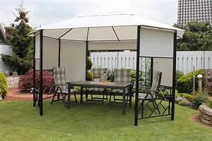 leco 8 eck pavillon seitenteile garten uberdachung zelt With französischer balkon mit garten mit pavillon