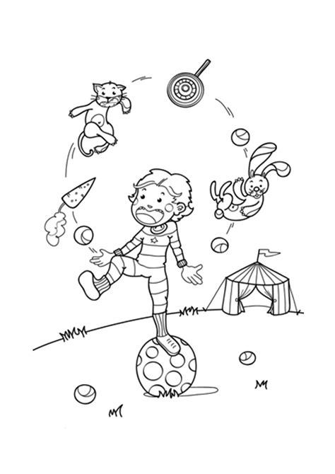 cuisine caen dibujos para colorear de personajes de circo malabart