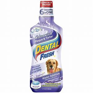 Dental fresh advanced plaque tartar water additive for for Dog dental water additive