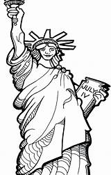 Coloring Statue Liberty Pages Oscar Drawing Torch Printable Getdrawings Patriotic Getcolorings sketch template