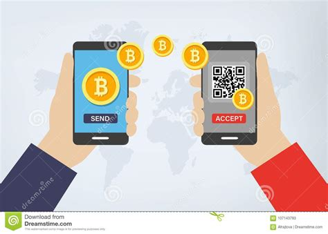 You can specify an amount for the transaction in your qr code. Bitcoin Transaction Via Smartphones And QR Codes Stock Vector - Illustration of bank, futuristic ...