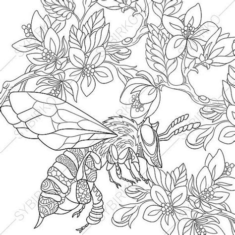 coloring pages  adults honeybee honey bee bumblebee bumble bee adult coloring pages