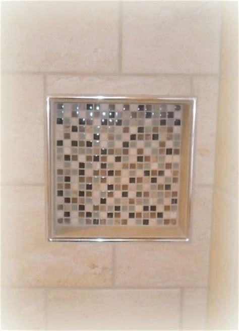 cutting schluter tile edging tiled shower niche with schluter trim bath