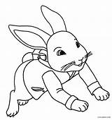Rabbit Coloring Pages Peter Printable Cool2bkids sketch template
