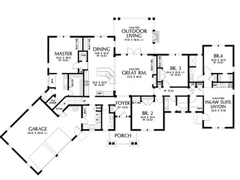 craftsman house plan   bishop  sqft  beds  baths