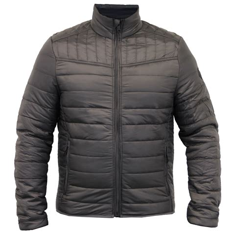 mens quilted bomber jacket mens jacket threadbare coat padded quilted bomber