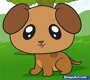 How to Draw a Puppy for Kids, Step by Step, Animals For ...