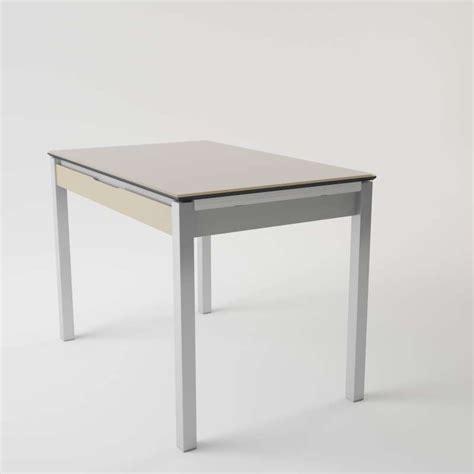 extensible de cuisine table de cuisine en verre extensible avec tiroir camel