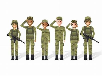 Military Vector Army Soldier Flat Cartoon War