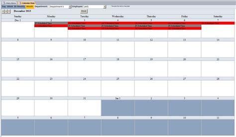 employee scheduling  template employee
