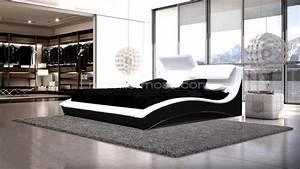 lit design en cuir ideal un lit moderne en cuir With tapis ethnique avec canape king size