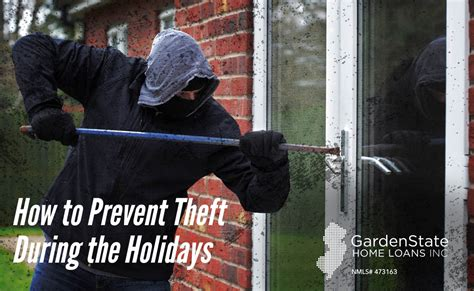 how to prevent theft during the holidays garden state