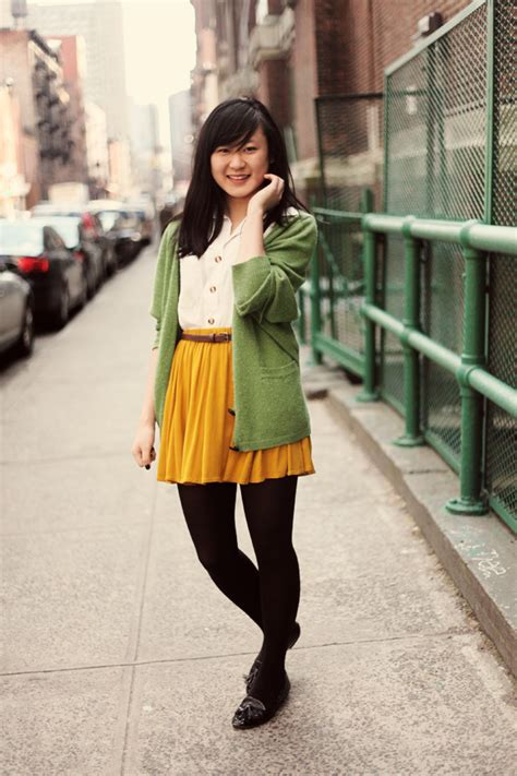 Remix Ways to Wear a Mustard Skirt / JennifHsieh | A Personal Style + Life Blog