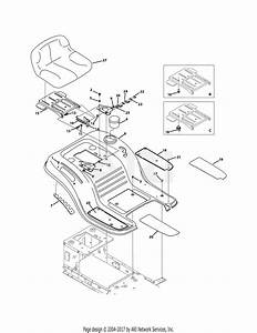 Mtd 13wv771s031  2011  Parts Diagram For Seat  U0026 Fender