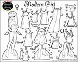 Doll Paper Dolls Coloring Pages Printable Cut Template Adult Clothes Boy Toys sketch template