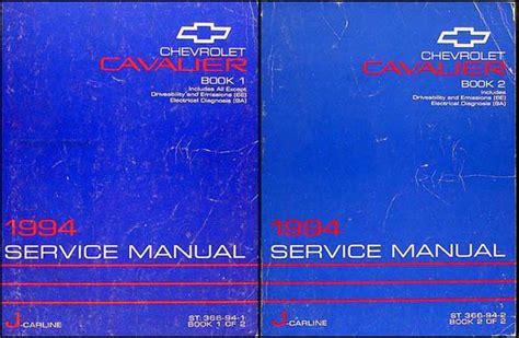 book repair manual 1994 chevrolet cavalier regenerative braking 1994 chevrolet cavalier shop manual set 94 chevy repair service z24 vl rs books ebay