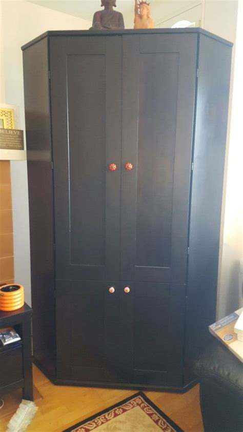 Ikea Corner Armoire Discontinued Real Wood Ikea Alve Corner Desk For Sale In