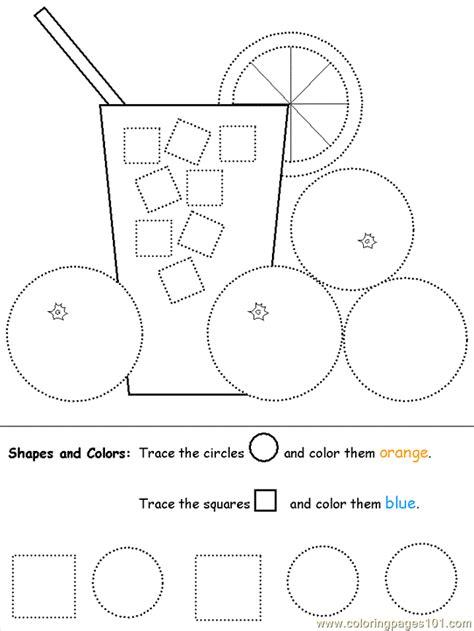 shapes circles squares coloring page  shapes