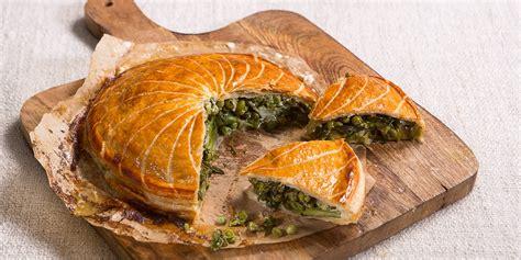 spring vegetable pie recipe great british chefs