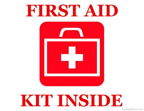 aid kit signs poster template