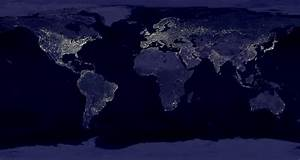 NASA Earth Night Lights Hawaii - Pics about space