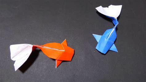 Origami Fish Koi Youtube