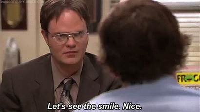 Gifs Office Dwight Schrute Funny Smile Carell