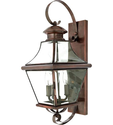 quoizel lighting carleton 3 light outdoor wall lantern in