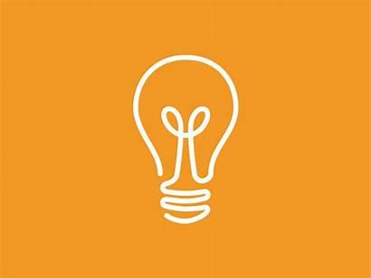 Led Animation Bulb Animated Logos Dribbble Illumination
