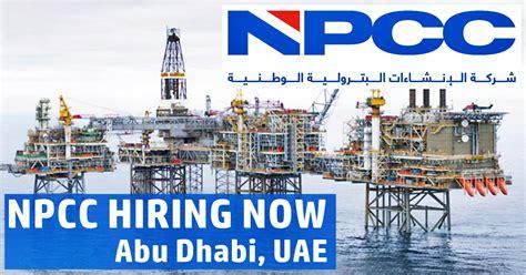 npcc abu dhabi staff recruitment uae
