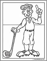 Coloring Golf Golfer Sheet Colorwithfuzzy Pdf sketch template