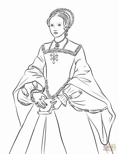 Elizabeth Queen Coloring Pages Young Printable Drawing
