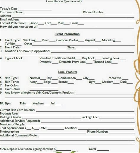Wedding Cake Consultation Form Template Asli Aetherair Co 22226