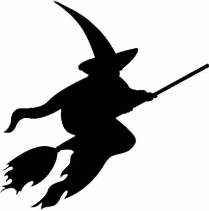 Witch Silhouette Templates Halloween Carving Pumpkin Library