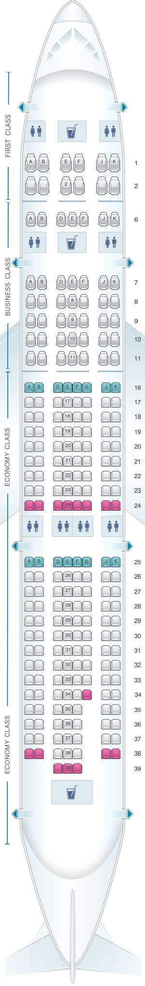 siege emirates plan de cabine emirates airbus a330 200 three class