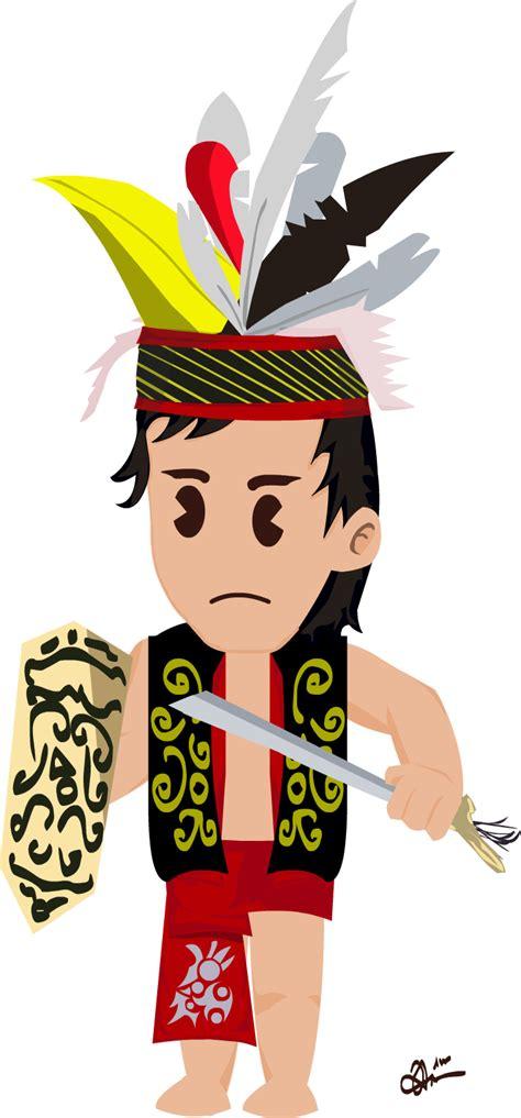 pakaian baju dayak warrior by jadmikoz on deviantart