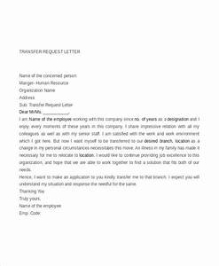 9 transfer request letter pdf doc free premium With transfer letter