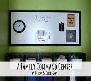 A Family Command Center {with a DIY Dry Erase Board
