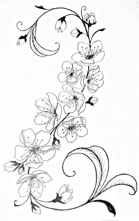 Pin by Chloe Zigler on Coloring(B&W) | Flower tattoos