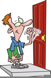 person knocking  door clipart  images  clkercom