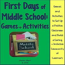 First Days Of Middle School Games And Activities  Best Classroom Environment And Problem