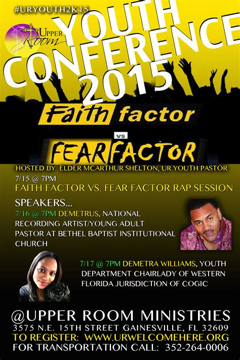 youth conference  faith factor  fear factor