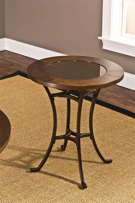 wood and metal end tables hillsdale montclair end table wood border with