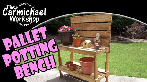 build  garden potting bench woodworking