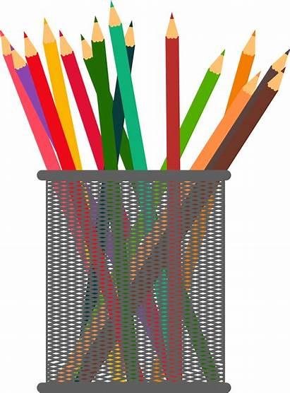 Pencil Clip Pens Clipart Paper Pen Pencils