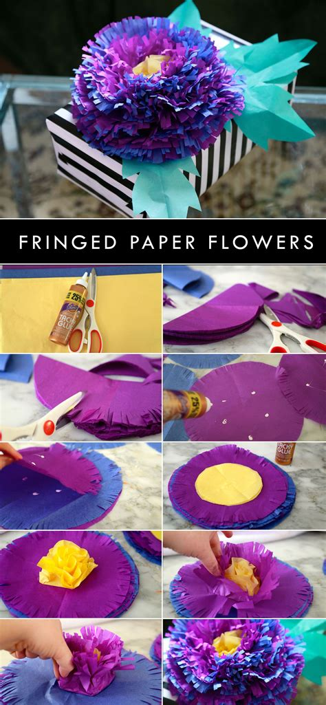 Make Pretty Flowers Using Tissue Paper And Aleenes Tacky