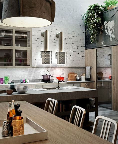 kitchen island hoods loft style kitchen design by michele marcon interiorzine