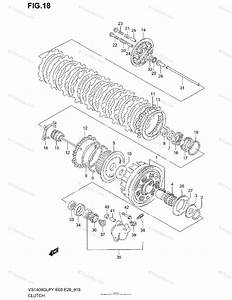 Suzuki Motorcycle 1998 Oem Parts Diagram For Clutch