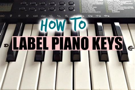 How To Label Your Keyboard/piano With Letters