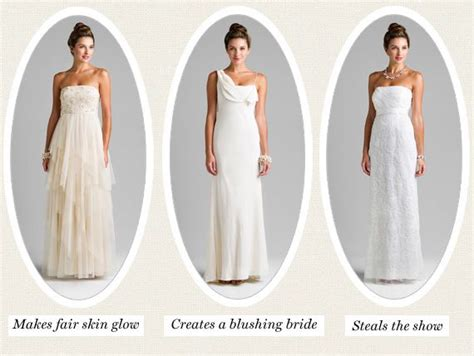 shades  white   pick  wedding dress hue